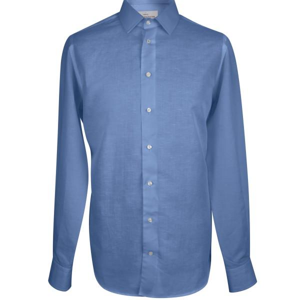 košile lněná tmavě modrá-1-male